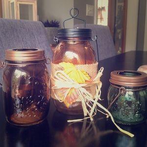 Set of 3 Fall Candle (led) holders